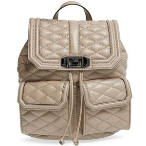 NWOT Rebecca Minkoff LOVE quilted Tan Backpack